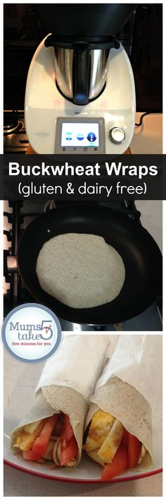Receitas De Wrap De Trigo Mourisco, Thermomix (sem glúten e sem laticínios!) – # amazing # wrappers - New Site Wrap Recipes, Dairy Free Recipes, Gluten Free Recipes, Vegan Recipes, Radish Recipes, Cantaloupe Recipes, Pain Thermomix, Thermomix Bread, Cheddarwurst Recipe