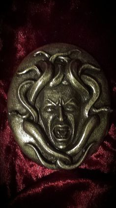 Medusa belt buckle gorgon by Thesevenseals on Etsy, $30.00