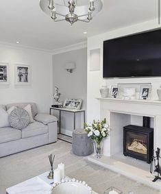 Home Room Design, Home Living Room, Living Room Lounge, Chic Living Room Decor, Home Fireplace, Cosy Home Decor, Living Room Decor Gray, Cosy Living Room, Fabulous Living Room Decor