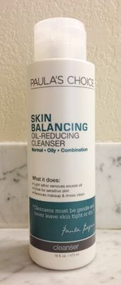 Paula's Choice - Skin Balancing Oil-Reducing Cleanser product review