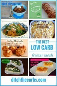 A great guide on the top 9 low carb freezer meals. Look at the simple guide on how to freeze, how to defrost and how to reheat frozen dinners. | ditchthecarbs.com