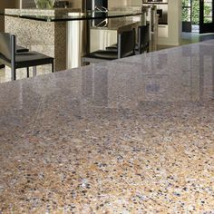 Berland Flax Quartz From Arizonatile Blends Together Nature And Technology To Create Kitchen Countertops