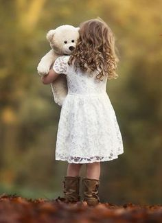 """She stared at him, holding her favourite teddy bear in one hand and his pistol in the other. """"Hi dad,"""" she whispered. Precious Children, Beautiful Children, Beautiful Babies, Little People, Little Ones, Little Girls, Cute Kids, Cute Babies, Toddler Photography"""