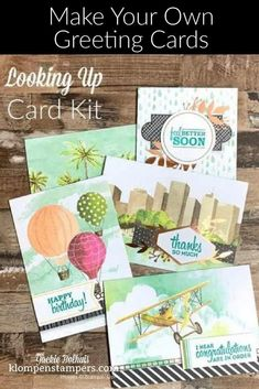 15 versatile cards you can make in a breeze! These are made from a card kit that includes everything you need and the greetings allow for variety and fun! Video included! #cardmakingkits #simplecards #howtomakecards #cardmakingtutorials #klompenstampers #jackiebolhuis #stampinup