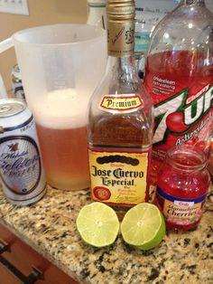 Beeritas using Cherry 7-Up:  Easy and YUM YUM YUM!!!