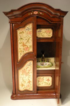 Garden Bar/Armoire by Renee Isabelle - $1,975.00 : Swan House Miniatures, Artisan Miniatures for Dollhouses and Roomboxes