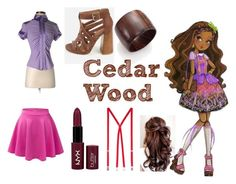 """""""Cedar Wood Closet Cosplay"""" by thecrystalheart on Polyvore featuring Bebe, LE3NO, Nest, NYX and American Apparel"""