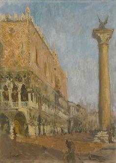Walter Sickert (British, 1860-1942), Doge's Palace, Venice, 1900-01. Oil on canvas.  Thunderstruck