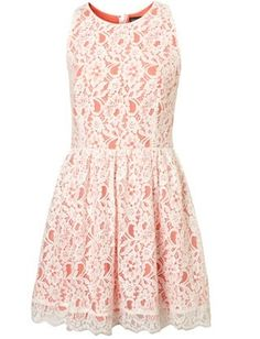 lace, cute cut and orange dreamsicle coloring... why is this not already in my closet?