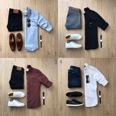 Mens Fashion Summer – The World of Mens Fashion Mens Style Guide, Men Style Tips, Casual Outfits, Men Casual, Fashion Outfits, White Shirt Outfits, Cheap Fashion, Womens Fashion, Super Moda