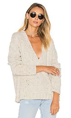 Lone Pine Deep V Neck Sweater