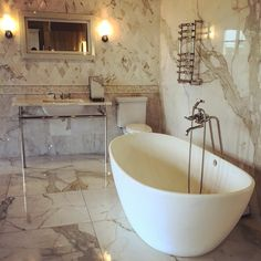 A touch of sophistication and beauty.  #freestanding #victoriaandalbert #wetstyle #tub #showroom #torrcodesigncenter #ct #bathroom #inspiration #homeimprovement #towelwarmer #sink #bathroomsink #tiles #luxury #bath