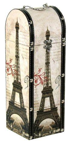 Decor Eiffel tower design trunk
