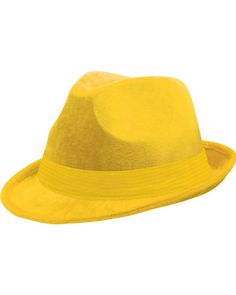 Yellow Fedora Hat NEED THIS!