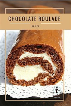 This Low Carb Chocolate Roulade or as some can call it Keto Chocolate Swiss Roll Cake is not only Su Sugar Free Cheesecake, Sugar Free Desserts, Sugar Free Recipes, Low Carb Desserts, Low Carb Recipes, Healthier Desserts, Healthy Sweets, Healthy Snacks, Chocolate Roulade