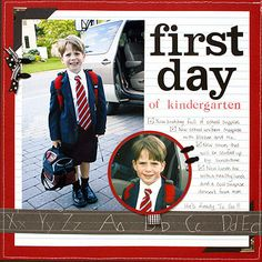 Pull a Scrapbook Page Color Scheme from a School Uniform