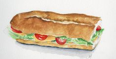 sandwich Sandwich Drawing, Menu Card Template, Dessert Illustration, Sandwiches, Food Sketch, Cooking Recipes, Healthy Recipes, Food Journal, Food Drawing
