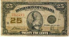Canada 25 Cent 1923 Cavour Sounders
