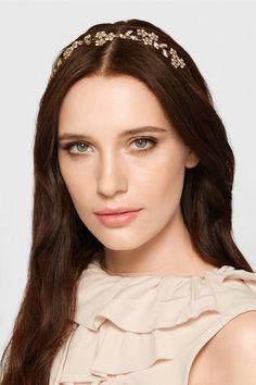 JENNIFER BEHR Violet Bandeaux gold-tone crystal headband