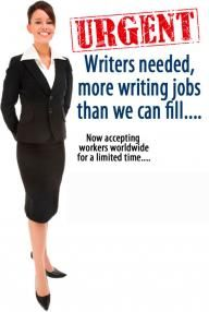 Writers needed for online jobs - http://PinternetMarketing.com