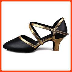 1da766e9d64 Roymall Women s Gold Leather Latin Dance Shoes Ballroom Salsa Tango  Performance Shoes