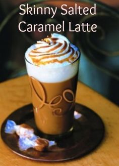 Skinny Salted Caramel Latte - make at home and only 80 calories!