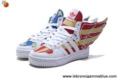Latest Listing Adidas X Jeremy Scott Wings 2.0 USA Flag Shoes Glow In Dark Fashion Shoes Store