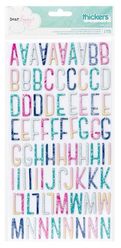 American Crafts - Dear Lizzy Collection - Serendipity - Thickers - Chipboard - Ooh La La