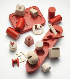When asked to represent Nordic identity, Norwegian studio Permafrost created wooden toys based on an oil rig and tanker.