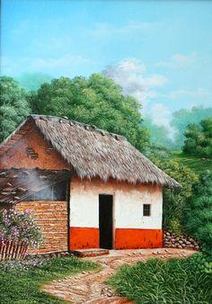 Pintura Tole, Caribbean Art, Watercolor Landscape Paintings, Indian Art Paintings, Pinstriping, Mexican Art, Elements Of Art, Home Art, Painting & Drawing