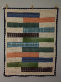plaid old shirts baby quilt