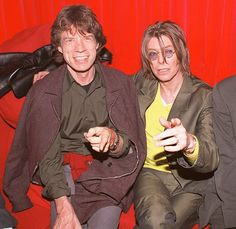 David Bowie and Mick Jagger