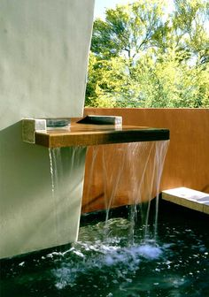Water feature by landscape architect Steve Martino.