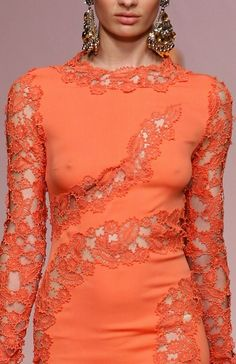 Ermanno Scervino, Coral lace gown (dress) Spring 2013