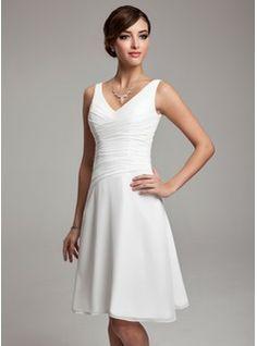Платья подружки невесты - $103.99 - Трапеция/Принцесса V-образный Колен шифон Платье Подружки Невесты с Рябь Бисер блестками  http://www.dressfirst.ru/A-Line-Princess-V-Neck-Knee-Length-Chiffon-Bridesmaid-Dress-With-Ruffle-Beading-Sequins-007001083-g1083