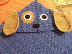 Puppy with hood blanket crochet baby blanket by KiddoCreation
