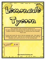 lemonade tycoon counting by five activity