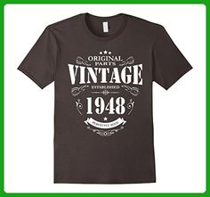 Mens Established in 1948 perfectly aged funny 69th Birthday Shirt 3XL Asphalt - Birthday shirts (*Amazon Partner-Link)