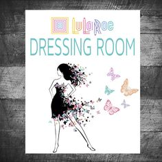 LuLaRoe sign dressing room Butterfly by MichelleRayeDesigns