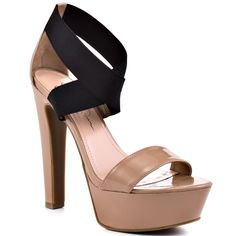 Jessica Simpson's Multi-Color Pattina - Nude Black Pat for 89.99 direct from heels.com