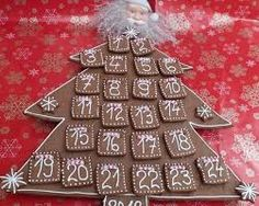 Resultado de imagen de adventi naptár mézeskalácsból Advent Calendar, Holiday Decor, Advent Calenders