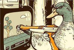 Old school Nintendo Duck Hunt taking revenge 8bit Art, Duck Hunting, Hunting Stuff, Geek Art, Gaming Memes, Video Game Art, Videogames, Funny Pictures, Random Pictures