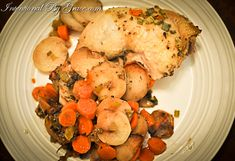 Easy Crock-Pot Crock Pot Chicken on a Bed of Root Vegetables, Stacymakescents.com