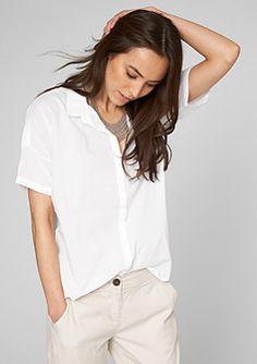 Hemdbluse mit kurzen Ärmeln im s.Oliver Online Shop