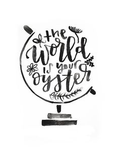 The World is your Oyster Printable by MiniPress on Etsy