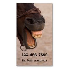 Equine Dentist Business Card Business Card. I love this design! It is available for customization or ready to buy as is. All you need is to add your business info to this template then place the order. It will ship within 24 hours. Just click the image to make your own!