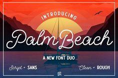 Palm Beach Font Duo by Ivan Rosenberg on @creativemarket