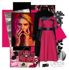 """LATTORI designer dresses 60."" by carola-corana ❤ liked on Polyvore featuring nanimarquina, Oasis, Lattori, Versace, Nicholas Kirkwood, Pacha and lattori"
