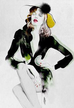 yelen aye fashion illustration - Google Search