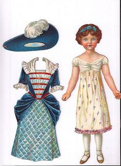 dutton's dolls for dressing...little miss muffet paper doll and outfit, circa 1900